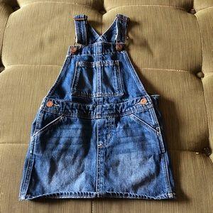 babyGap girls overall jean denim dress 3 years